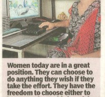 Women today have more options to fulfill their ambitions
